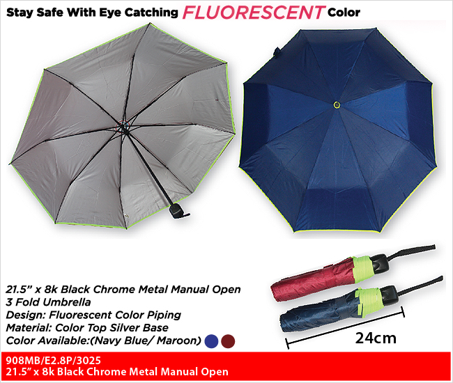 908MB/E2.8P/3025  - 3 Fold Umbrella