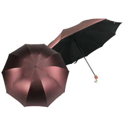 327/F/555 - 27 Inches 3 Fold Manual Open Umbrella