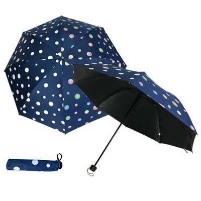 421/BFP-358B Polka Dot - Water Activated 4 Fold Umbrella