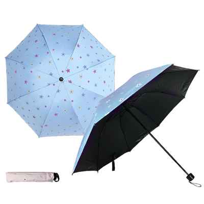 421/BFP-359C Flower - Solar Activated 4 Fold Umbrella