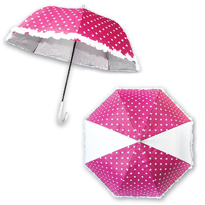 Dome Shape + Frill Edge - Custom Made 24 Inches x 27 Inches Dome Shape and Frill Edge Umbrella