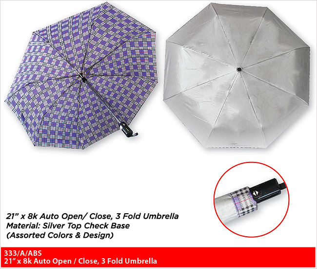 333/A/ABS  - 3 Fold Umbrella