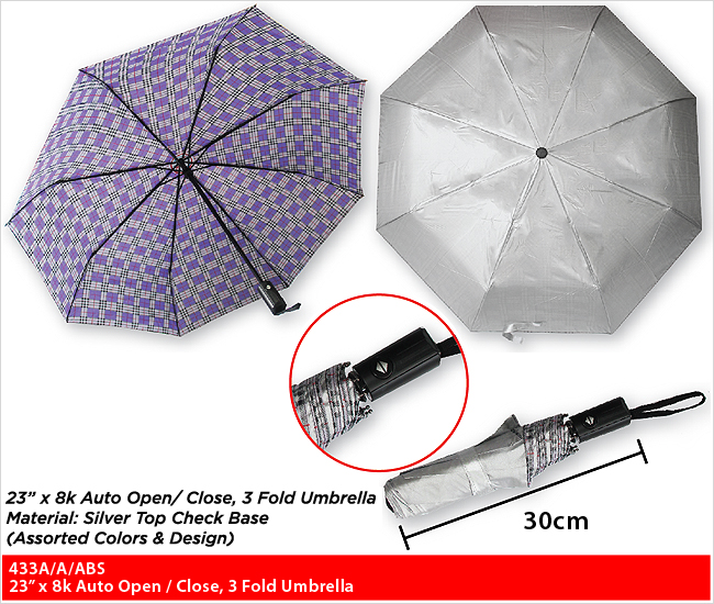 433A/A/ABS  - 3 Fold Umbrella