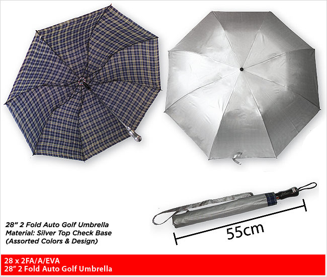 28 x 2FA/A/EVA  - 2 Fold Golf Umbrella